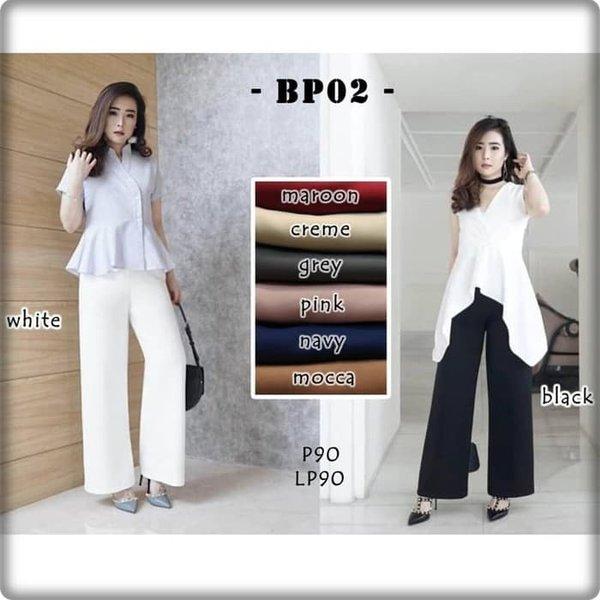 Celana Kulot Panjang Polos Wanita BP02 DB