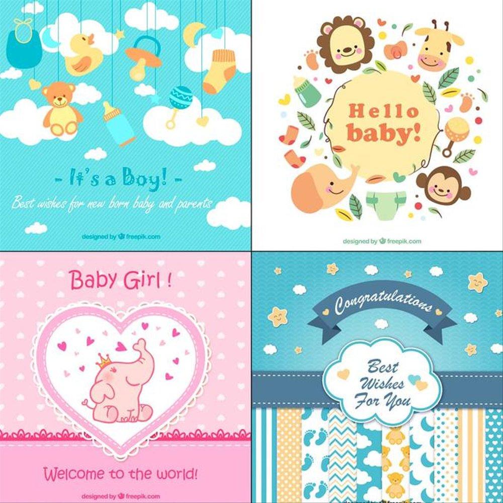 Gambar Kartu Ucapan Kelahiran Bayi Laki Laki Ala Model Kini