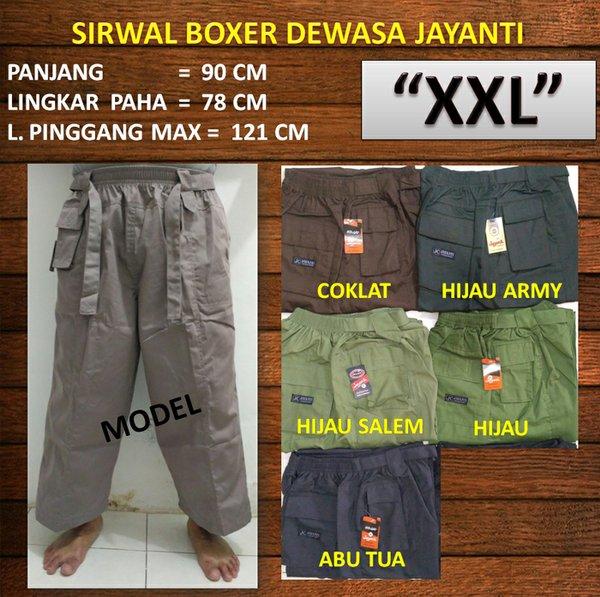 Celana Sirwal Boxer Dewasa Size Jumbo XXL