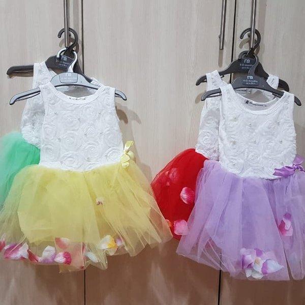 Murah baju gaun pesta bayi anak perempuan