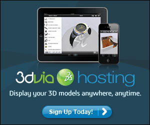 Display your 3D models anywhere, anytime.