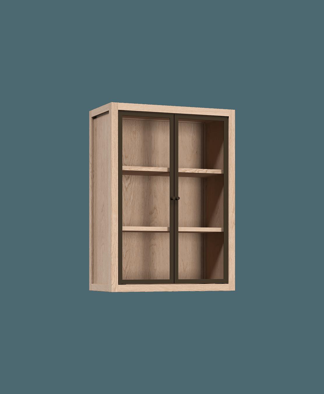 armoire radix armoire murale avec portes vitrees