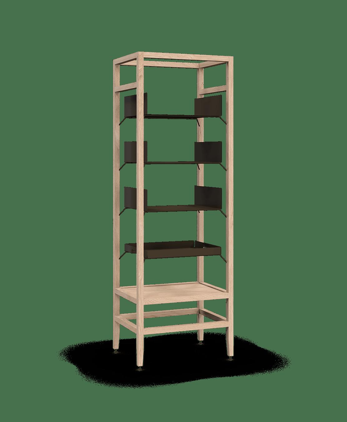 Volitare Bookcase Shelving Unit 3 Shelf Tray 24 In White