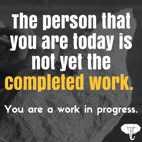 you are a work in progress