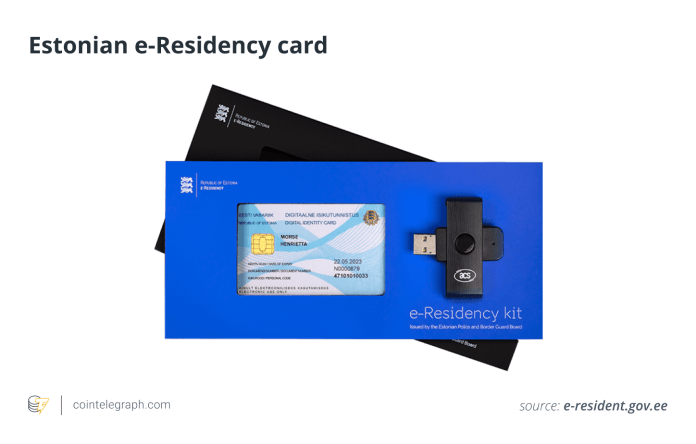 Estonian e-Residency card
