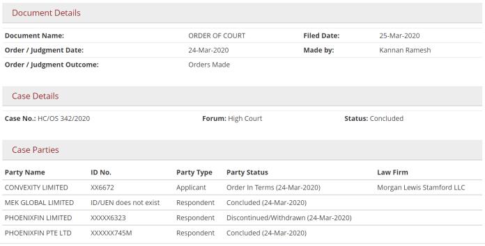 Singapore's eLitigation Database