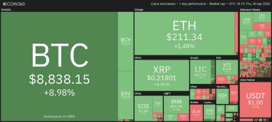 Bitcoin rutscht zurück unter 9.000 US-Dollar, Analyst gibt Entwarnung