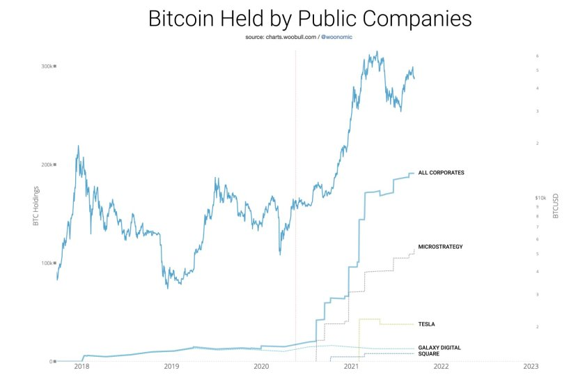 Annotated chart of BTC reserves in the balance sheet of public companies