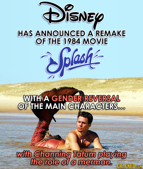 Splash remake to star Channing Tatum as the merman