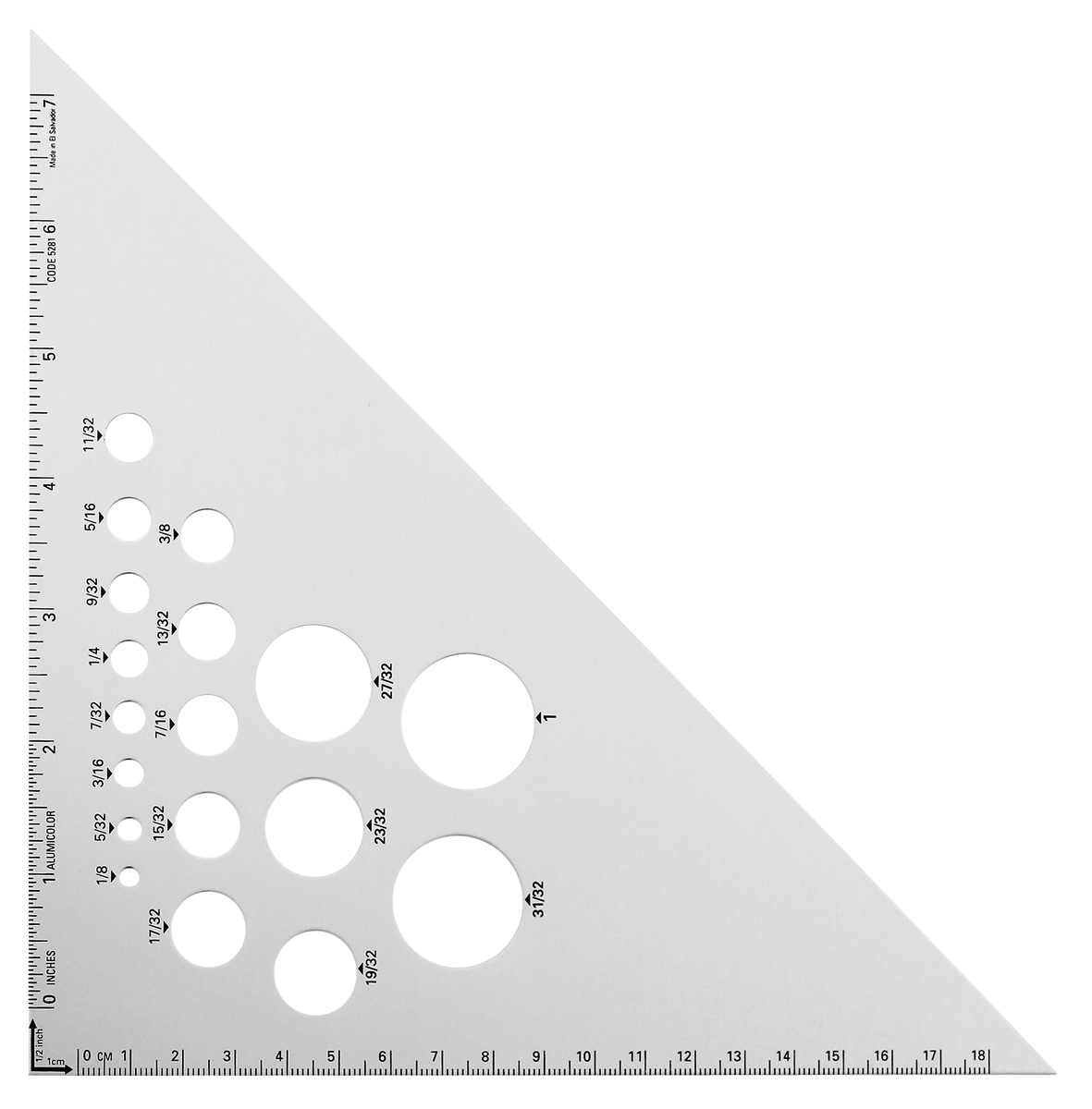 8 45 90 Degree Aluminum Drafting Triangle