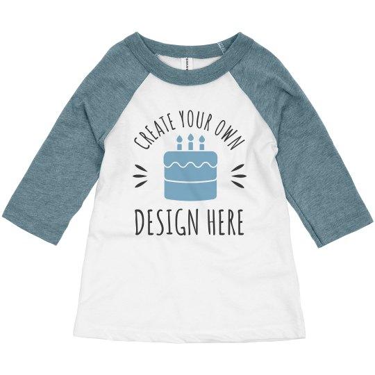 Custom Toddler Kid Birthday Shirts Toddler 3 4 Sleeve Raglan T Shirt