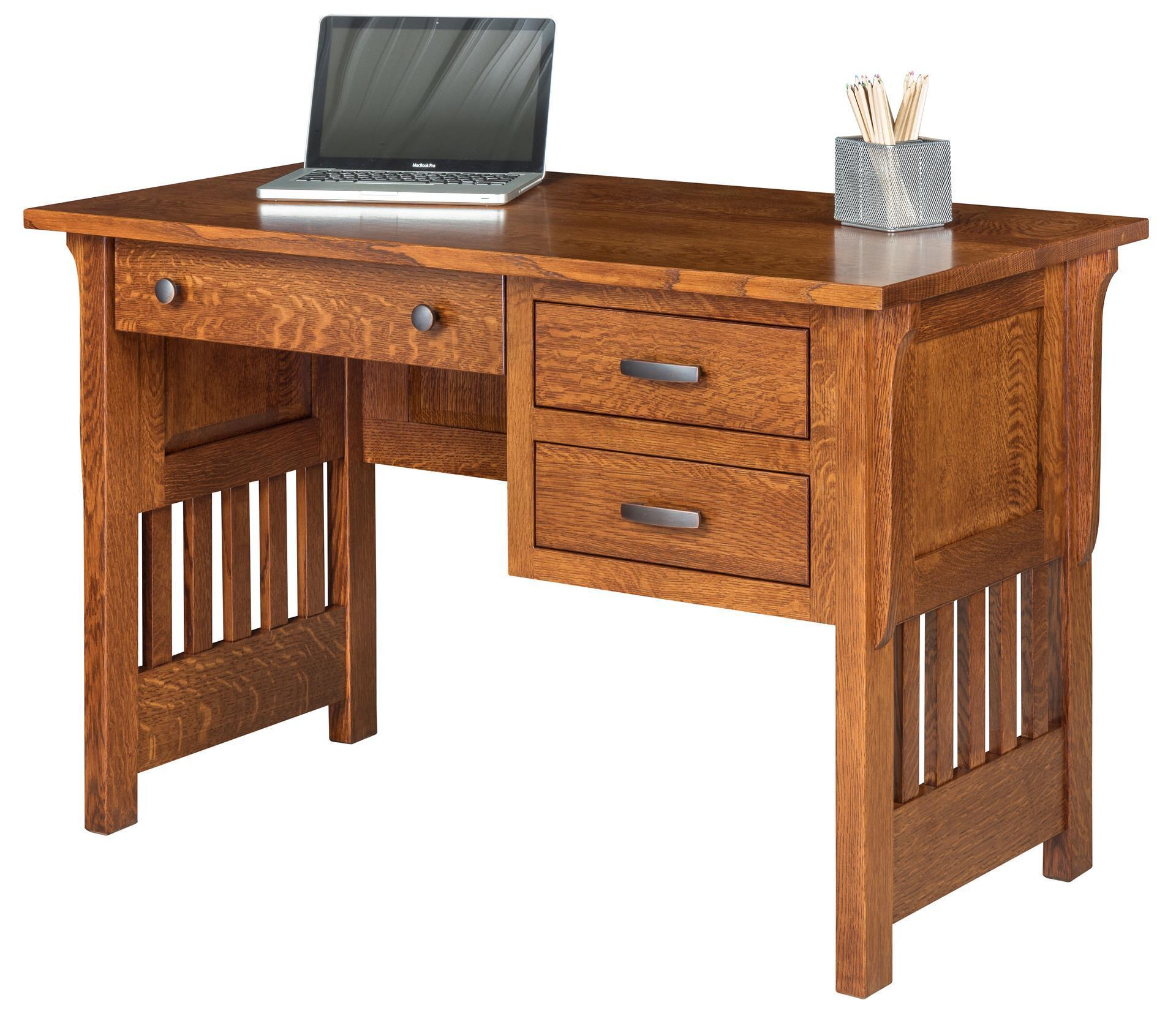 Solid Wood Boston Mission Writing Desk With Drawrs From