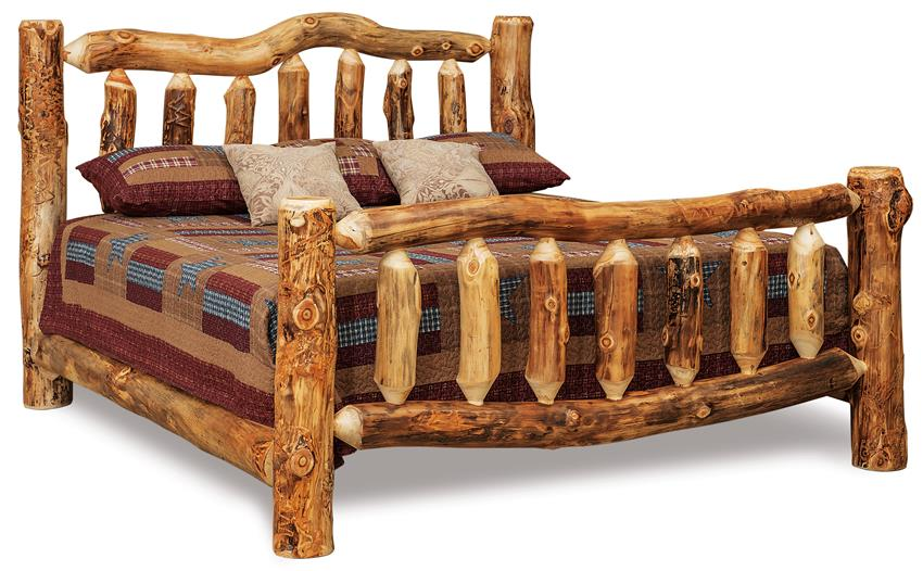 amish rustic log bed from dutchcrafters amish furniture