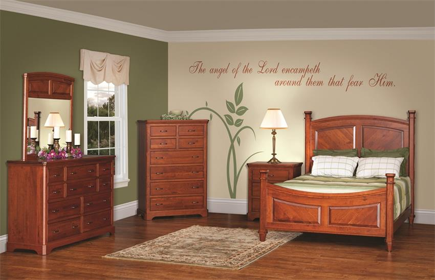 american made rustic cherry bedroom furniture set