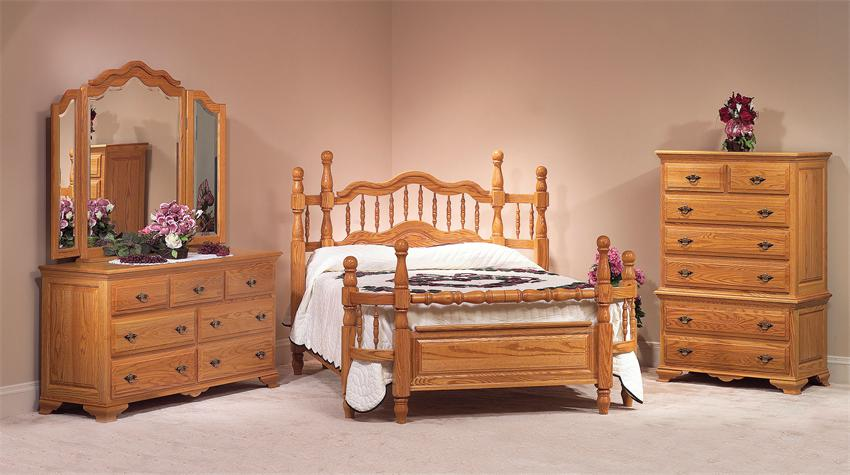 oak wrap around bedroom set from dutchcrafters amish furniture