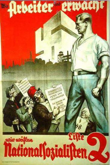Affiche de propagande Nazie
