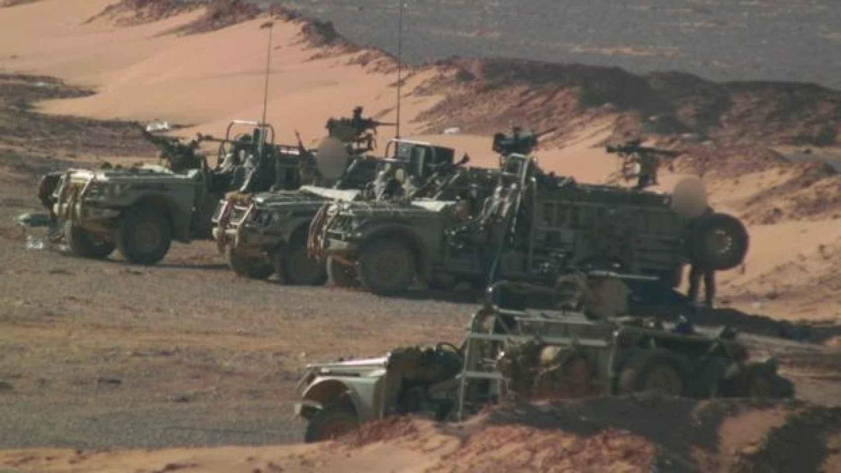 La BBC ha publicado imágenes de lo que serían las primeras fuerzas occidentales en Siria