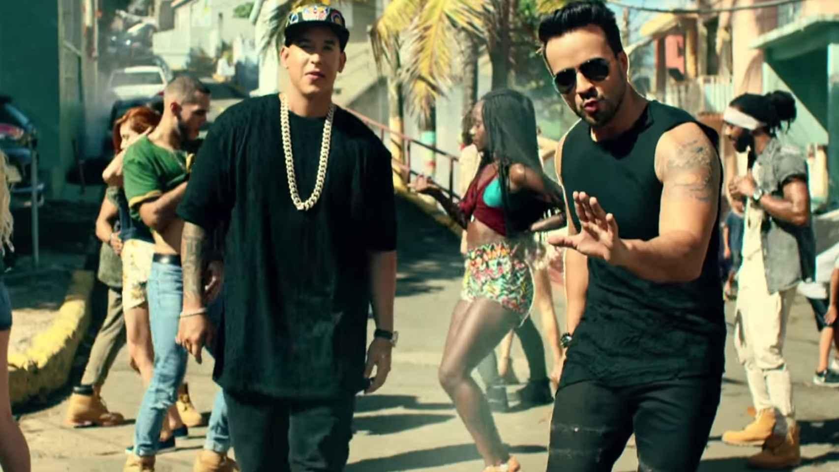 Luis Fonsi y Daddy Yankee en el vídeo de Despacito.