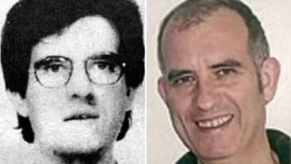 Mikel Antza, en una foto de la época y otra actual, era considerado el cerebro de ETA.