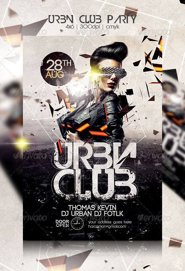 Urban Club Party Flyer By Haicamon GraphicRiver