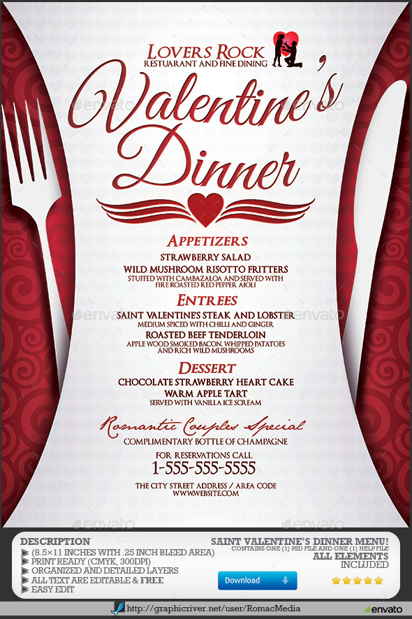 dinner sale flyer template