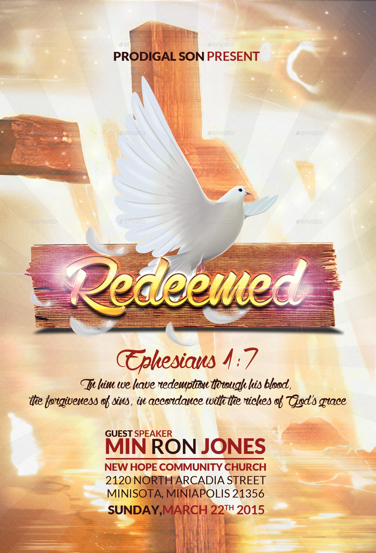 Redeemed Church Flyer By BlueFlameCreations GraphicRiver
