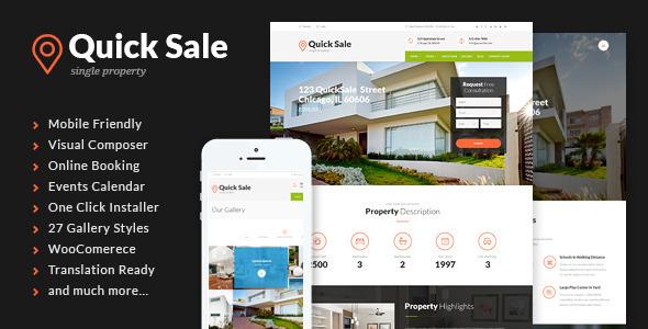 Quick Sale   Single Property Real Estate Theme