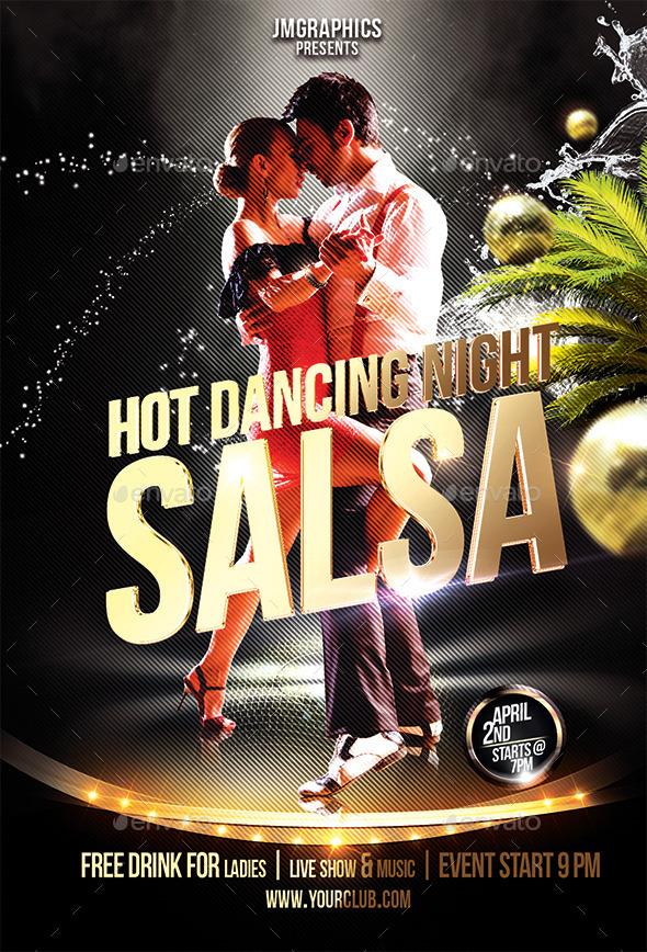 Salsa Flyer Print Template By Ju Maj Graphicriver