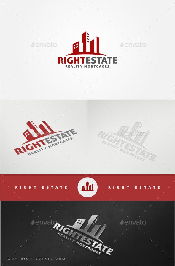 Real Estate Logo Template - Buildings Logo Templates