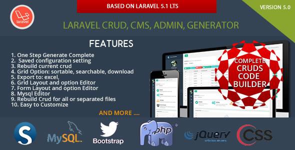 Laravel CRUD - CMS - Sximo 5 LTS