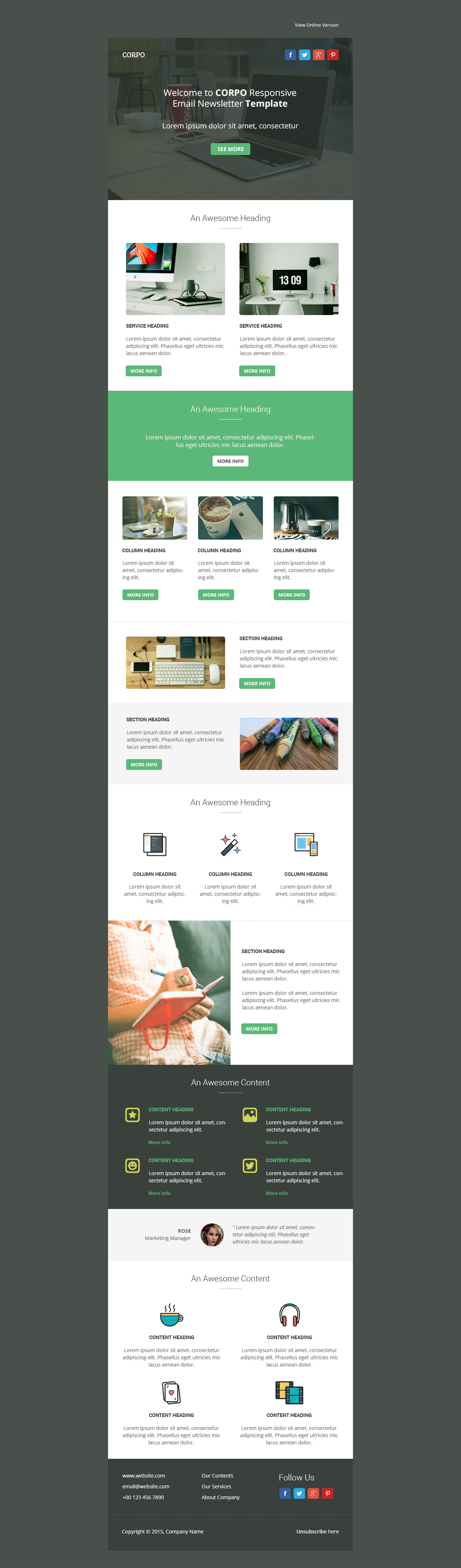 Corpo Responsive Email Template