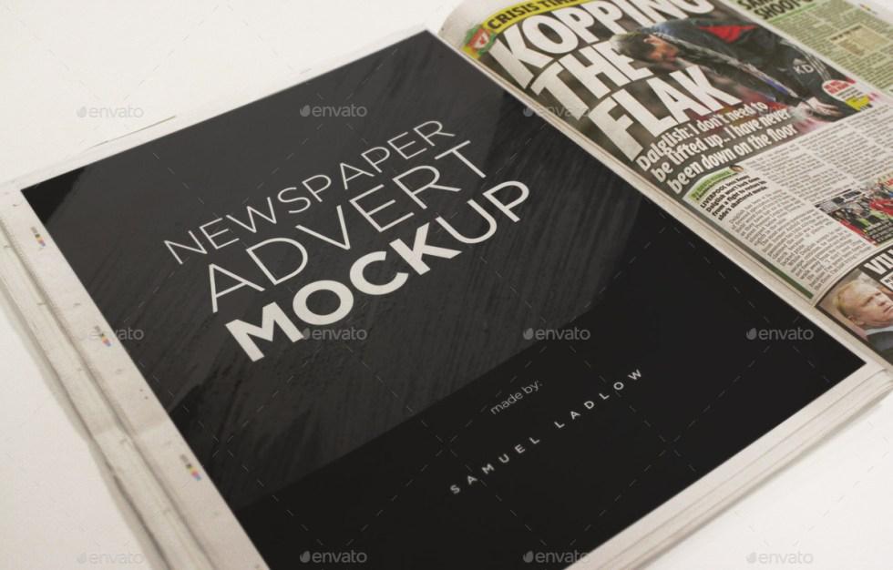 6 Newspaper Advert Mockups by samladlow | GraphicRiver