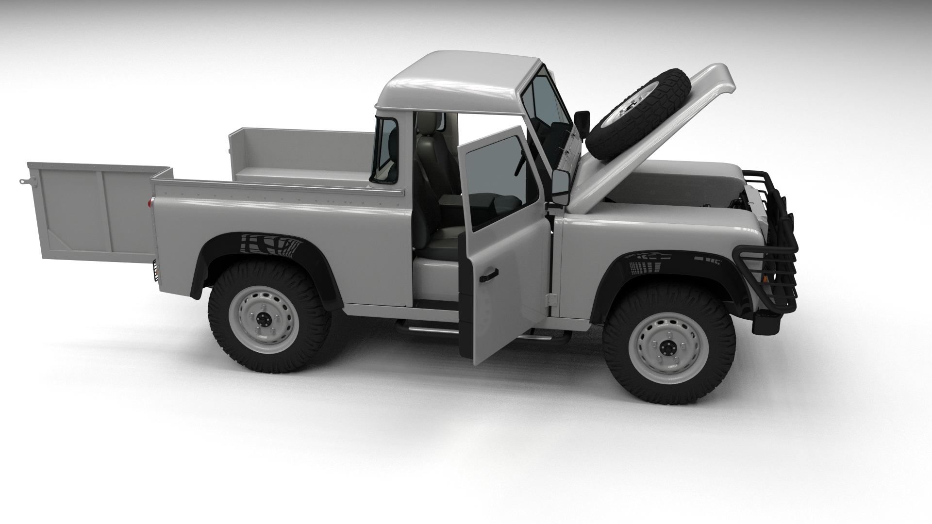 Full Land Rover Defender 90 Pick Up by dragosburian