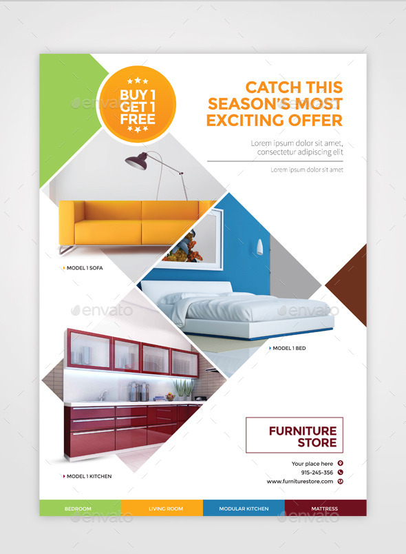 Furniture Flyer A4 By Pencildesigns GraphicRiver