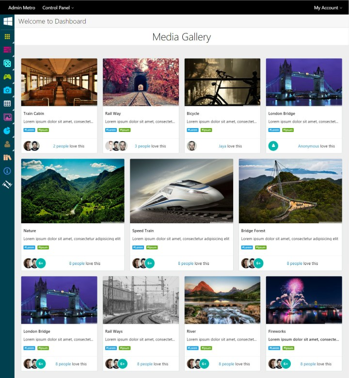 html template photo gallery | Cartoonjdi.co