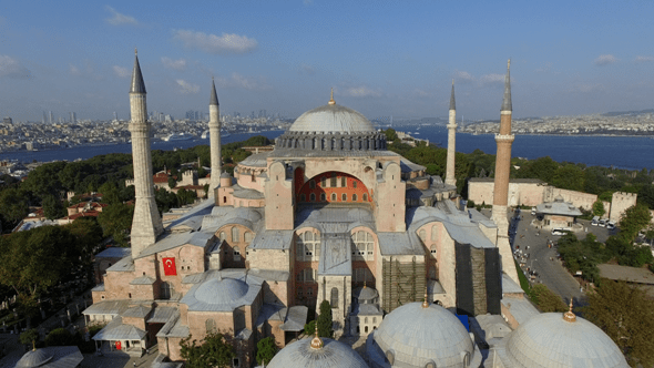 Istanbul Landscape And Hagia Sophia Mosque By Idsr VideoHive