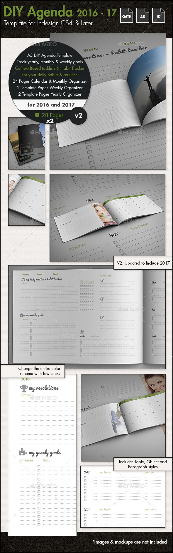 DIY Planner   Calendar Template for 2016 and 2017   A5 by sthalassinos DIY Planner   Calendar Template for 2016 and 2017   A5   Calendars  Stationery