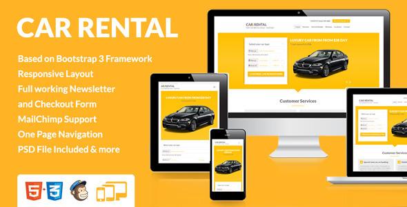 Car Rental Landing Page