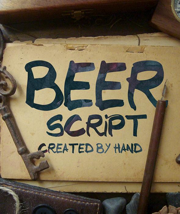 Free Font Beer Script Typeface Download