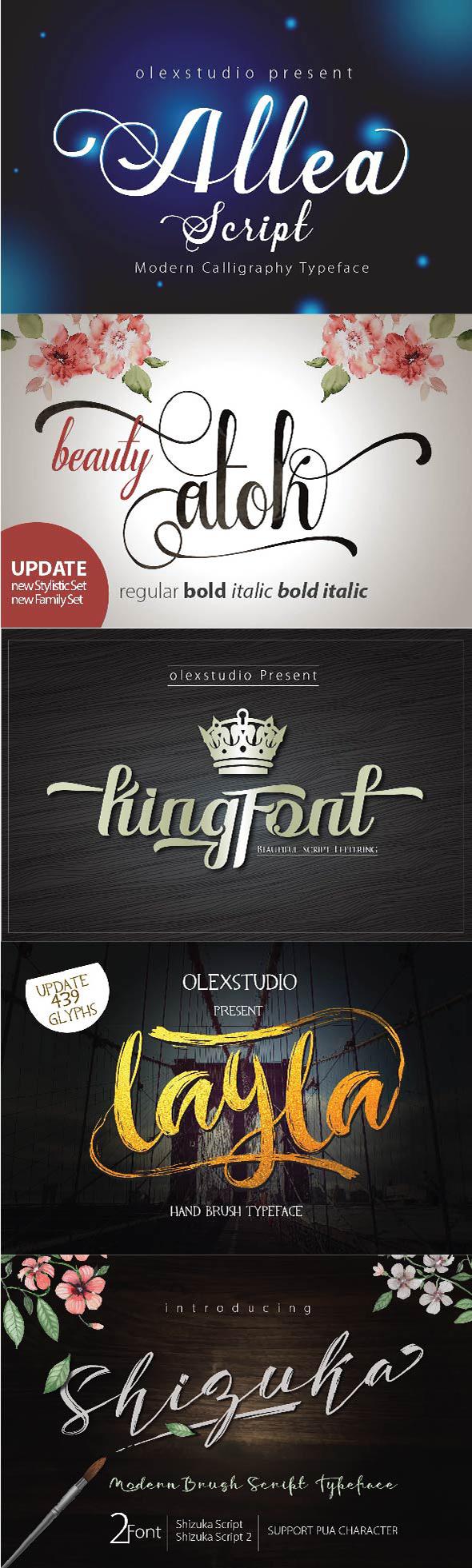 Free Font January 5 Script Font Bundle Download