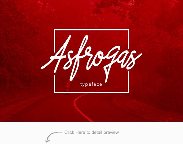 Free Font Asfrogas Typeface Download