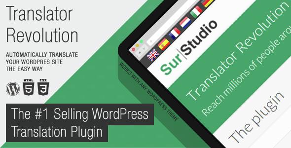 Ajax Translator Revolution DropDown WP Plugin - 3