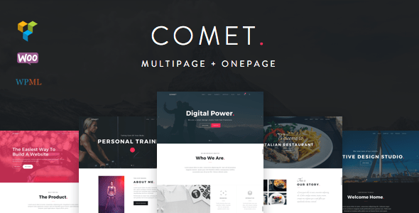 Comet Creative Multi Purpose Wordpress Theme