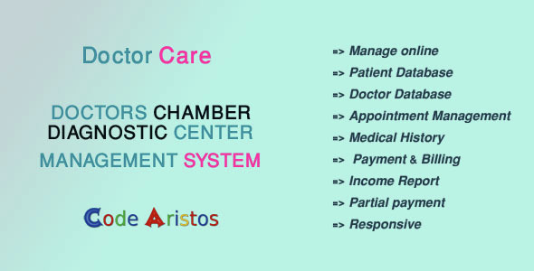 Physician Care – Diagnostic Heart / Medical doctors Chamber Administration System inline preview