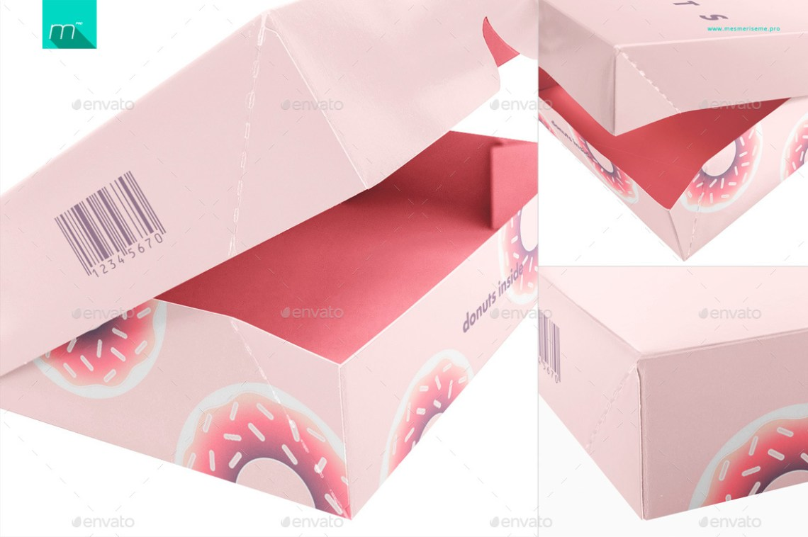 Download Donuts Box Mock-up by mesmeriseme_pro | GraphicRiver