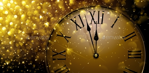 Twelve O Clock on New Year s Eve by  Baks    GraphicRiver Twelve O Clock on New Year s Eve   New Year Seasons Holidays
