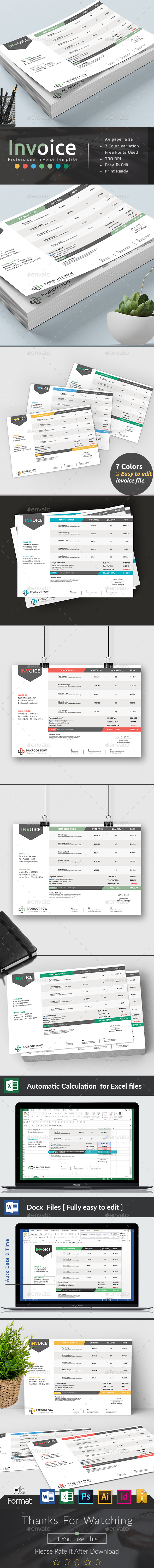 Invoice Excel by Ancient Ego   GraphicRiver Invoice Excel   Proposals   Invoices Stationery