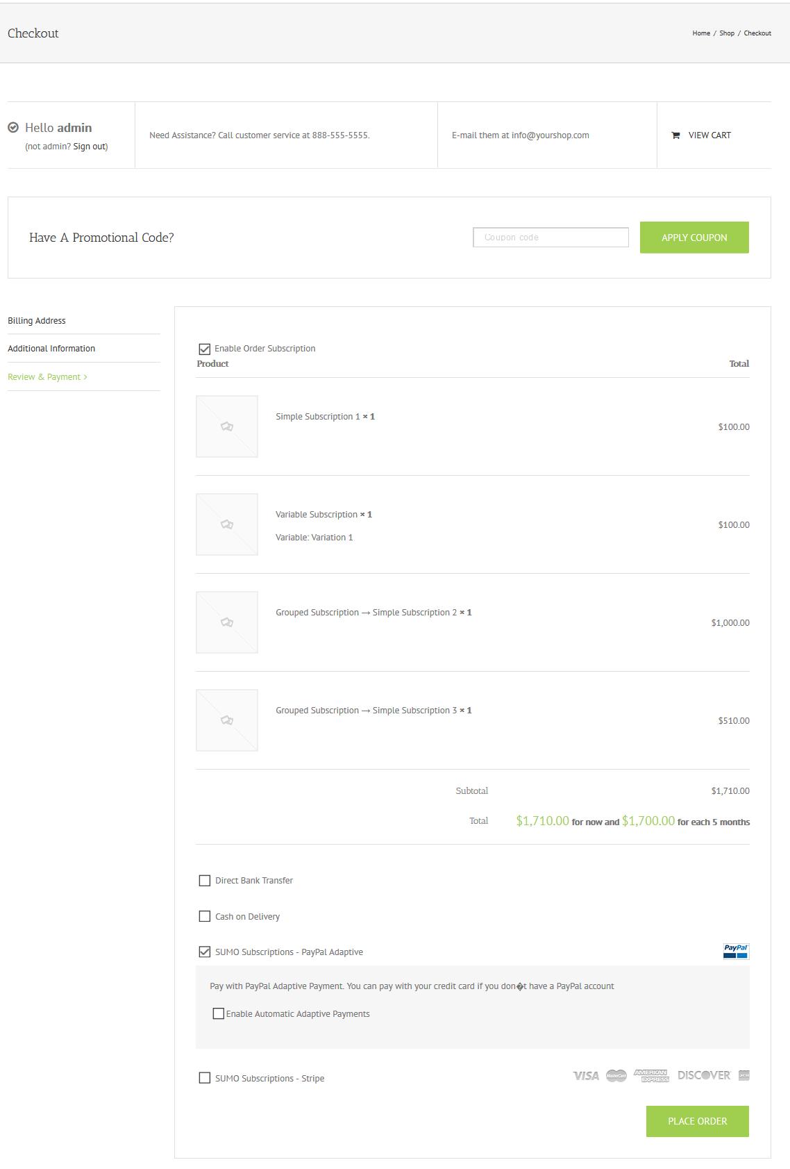 Sumo Subscriptions