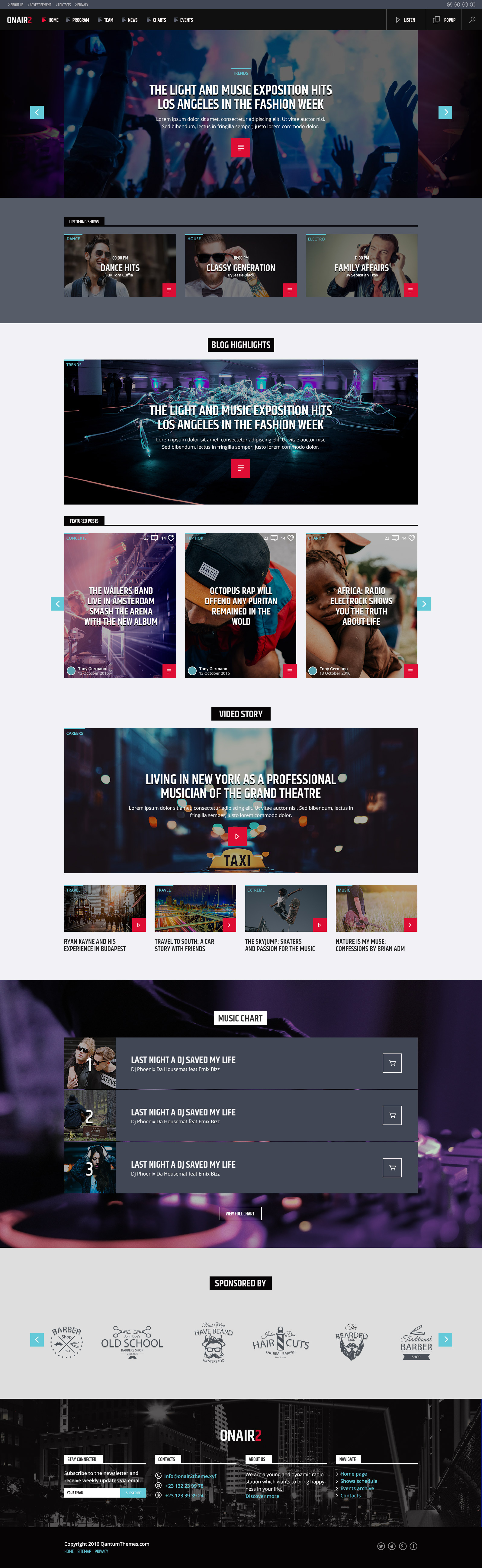 On Air 2 Radio Station Html Website Template