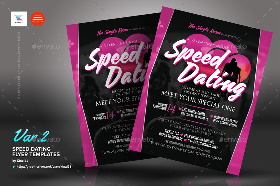 Speed Dating Flyer Templates By Kinzi21 GraphicRiver